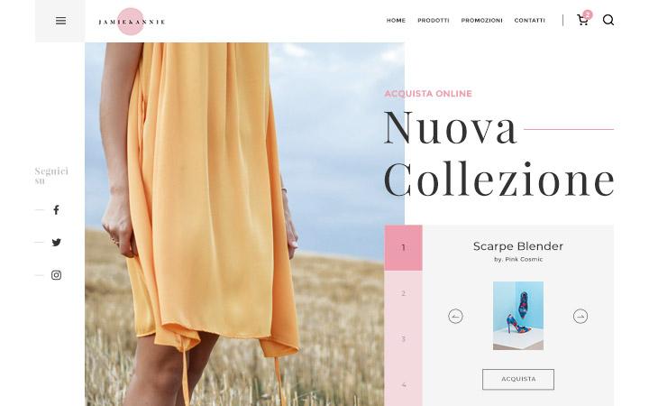 Creazione sito e-commerce per negozio online di abbigliamento